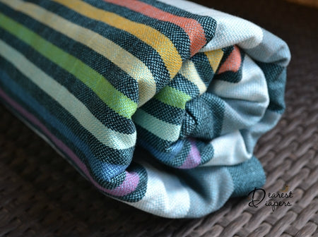 Girasol *DD Exclusive* Dearest Rainbow *Azul Pacifico* Twill Woven Wrap