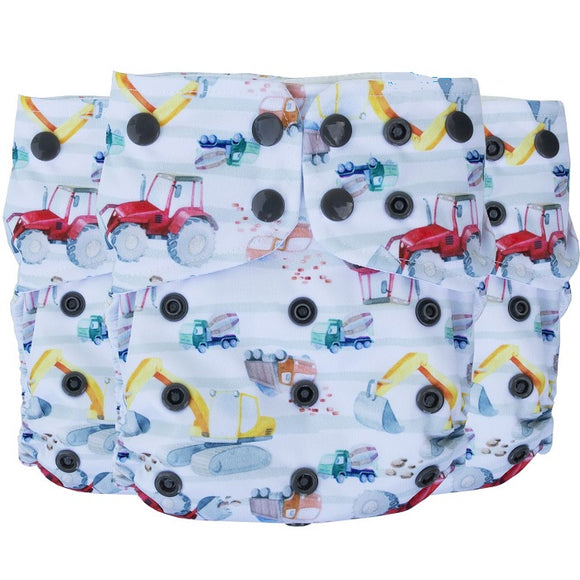 Lighthouse Kids Co SUPREME All-in-One Diaper *DD Exclusive* - Digger