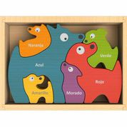 Begin Again Toys Dog Family Puzzle w/ bilingual curriculum
