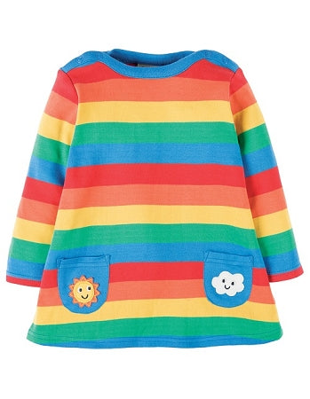 Frugi - Rainbow Dress Rainbow Stripe (SS18)