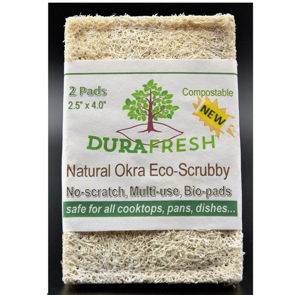 DuraFRESH Natural Okra Scrub Pad 2 pk.