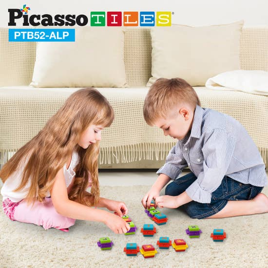 Picasso Tiles 52 piece Bristle Alphabet Set