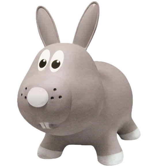 Farm Hoppers Inflatable Jumping Animal Bouncer Gray Rabbit