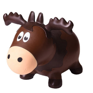 Wildlife Hoppers Inflatable Jumping Animal Bouncer Moose