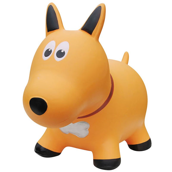 Farm Hoppers Inflatable Jumping Animal Bouncer Yellow Dog