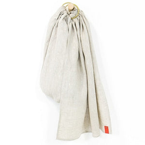Sakura Bloom - Basic Linen Ring Sling - Flax w/Silver Rings
