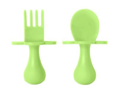 Grabease Feeding Utensil Set Green