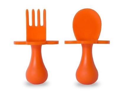 Grabease Feeding Utensil Set Orange