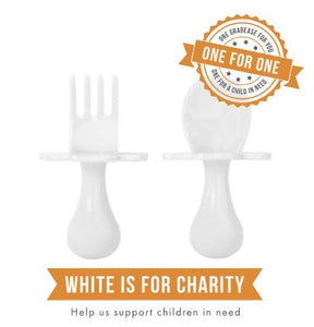 Grabease Feeding Utensil Set White