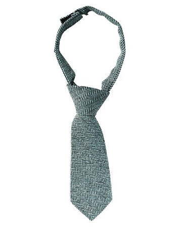 juDanzy Gray and Navy Tweed Neck Tie