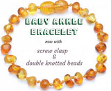 Healing Amber Baby Anklet/Bracelet - Polished Honey