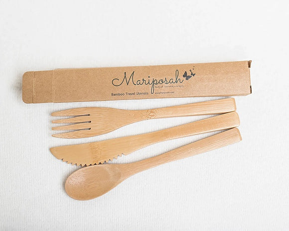 Mariposah Bamboo Travel Utensil Set