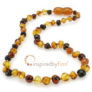 Inspired by Finn Baltic Amber (Teething) Necklace -3 Different Round