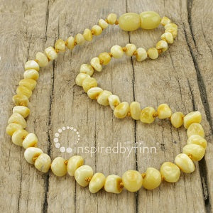 Inspired by Finn Baltic Amber (Teething) Polished Variegated Amber