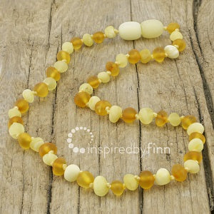 Inspired by Finn Baltic Amber (Teething) Necklace -Raw Amber Light Ambers