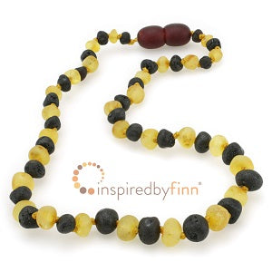 Inspired by Finn Baltic Amber (Teething) Necklace - 2 Different Colors Raw Amber