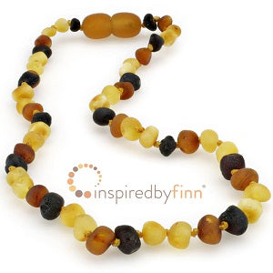 Inspired by Finn Baltic Amber (Teething) Necklace -Diversity Raw Amber