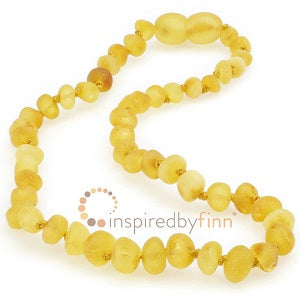 Inspired by Finn Baltic Amber (Teething) Necklace - Raw Amber Lemonade (Cinnamon Sprinkle)