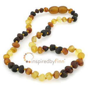 Inspired By Finn Baltic Amber Teething Necklace Multi Raw Amber