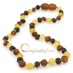 Inspired by Finn Baltic Amber (Teething) Necklace - Raw Amber Variation