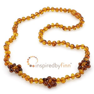 Inspired by Finn Baltic Amber (Adult) -  Polished Gingerbread Flower