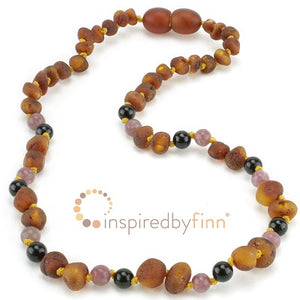 Inspired by Finn Baltic Amber (Teething) Necklace - Cognac Baltic Amber (+ Curbs Hyperactivity & Attn Deficit, Improves Focus)
