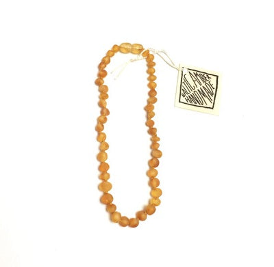 Canyon Leaf Baltic Amber Necklace - Raw Honey 11 inches