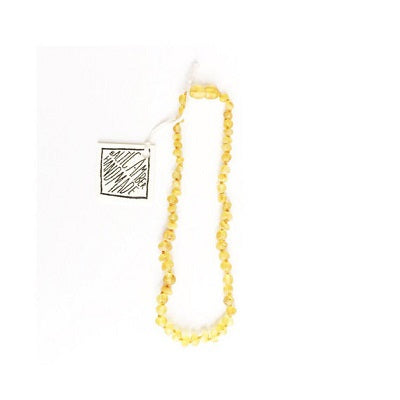 Canyon Leaf Baltic Amber Necklace - Raw Butterscotch