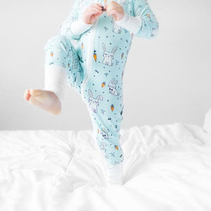 Little Sleepies Bunnies Convertible Bamboo Zip Romper/Sleeper