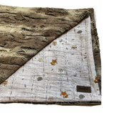Blumenkind Luxurious Plush Minky & Muslin Blanket in Woodland