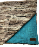 Blumenkind Luxurious Plush Minky & Muslin Blanket in Teal