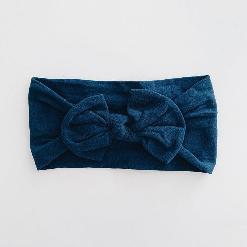 Sugar & Maple Classic Bow Headband - Navy