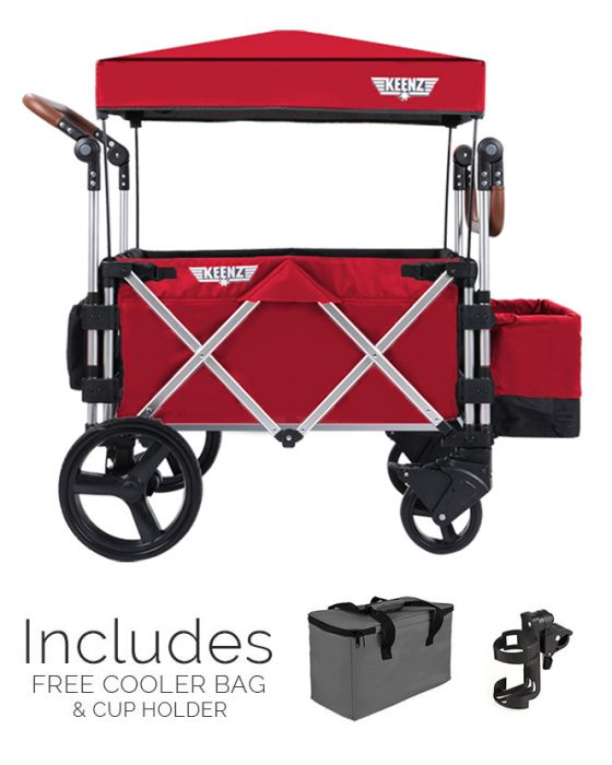 Keenz 7S Stroller Wagon Red
