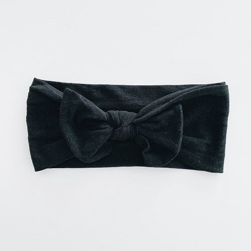 Sugar & Maple Classic Bow Headband - Black