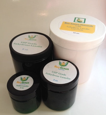 Bee Green Naturals Solid Anhydrous Lanolin