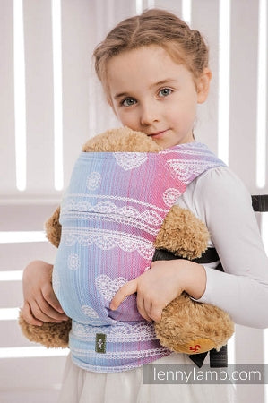 Lenny Lamb Wrap Conversion Doll Carrier - Rainbow Lace (cotton)