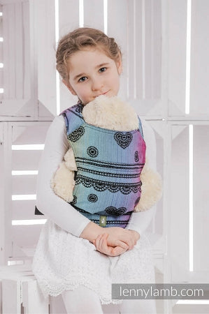 Lenny Lamb Wrap Conversion Doll Carrier - Rainbow Lace Dark (cotton)