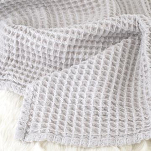 The Sugar House Cloud Blanket in Light Grey