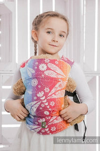 Lenny Lamb Wrap Conversion Doll Carrier - Dragonfly Rainbow (cotton)