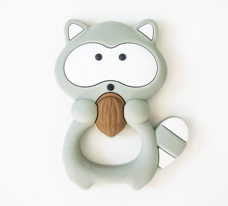 loulou LOLLIPOP - Grey Raccoon Teether