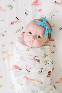 loulou LOLLIPOP - Muslin Swaddle Woodland Gnome