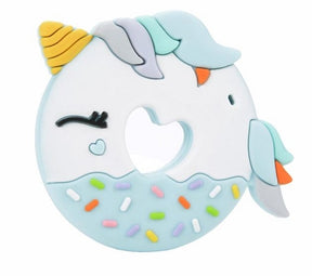 loulou LOLLIPOP - Blue Unicorn Teether