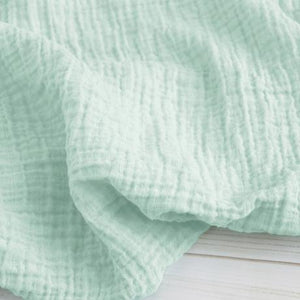 The Sugar House Classic Muslin Swaddle in Mint