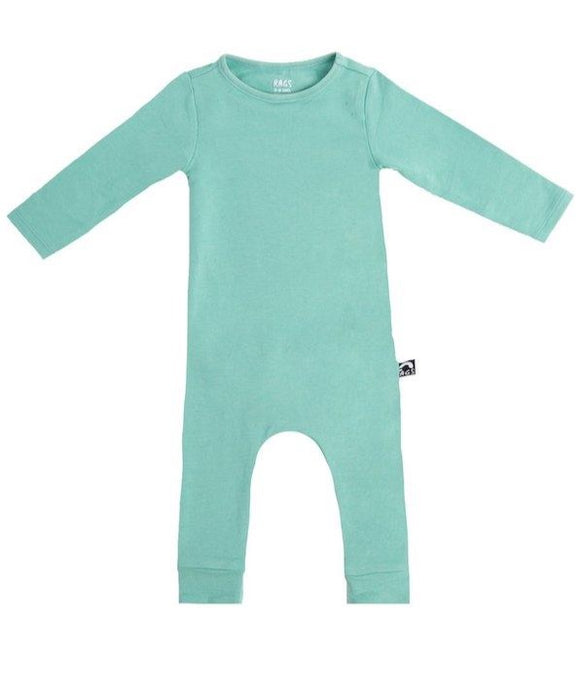 Rags Essentials Infant Rag Romper in 'Wasabi'