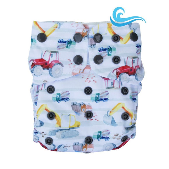 Lighthouse Kids Co Swim/Cover Diaper *DD Exclusive* - Digger