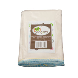 OsoCozy Bamboo/Organic Cotton Prefold Diapers - 6 Pack