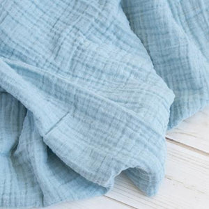 The Sugar House Classic Muslin Swaddle in Ocean