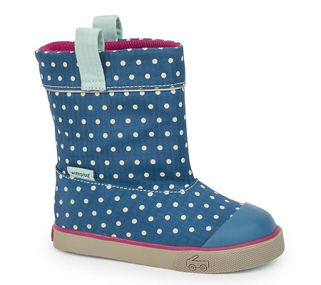See Kai Run - Montlake Dark Blue with Polka Dots
