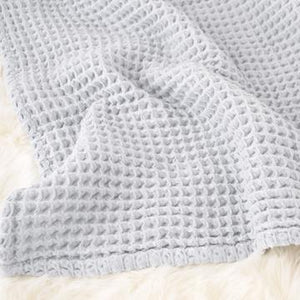 The Sugar House Cloud Blanket in Pale Blue