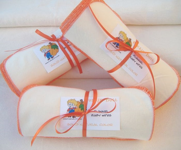 Punkin Butt Organic Flannel Baby Wipes 12 pack